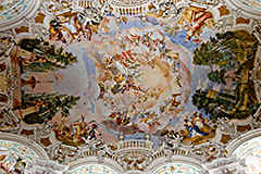 Steinhausen in southern Germany - fine baroque art of ceiling paintings
