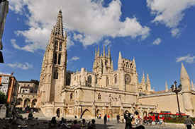 Burgos with the famous and imposing cathedral