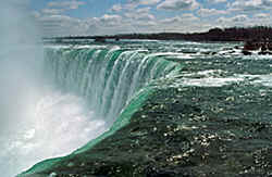 Niagara, 'Horseshoe' waterfalls between Canada and the USA, slide