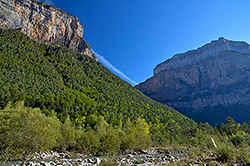 in the Spanish Pyrenees, here the impressive 'Parque Nacional de Ordesa i de Monte Perdido'