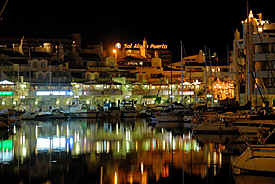 Benalmadena, Spain,  by night