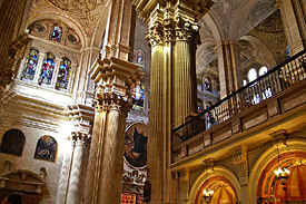 in the cathedral of Malaga in Spain