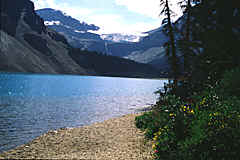 Bow Lake in the Rocky Mountains, Canada