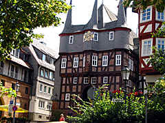 the medieval town hall of Frankenberg in Germany