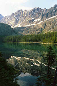 Lake O'Hara in het Yoho National Park in de Canadese Rocky Mountains