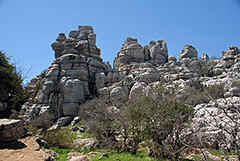 Spanje - El Torcal, a rocky spot near Antequera in southern Andalusia.