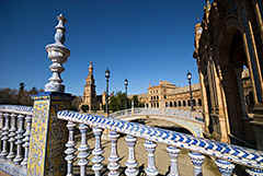 Sevilla - the beautiful 'Plaza de España' built for the international exposition of - I think - 1929