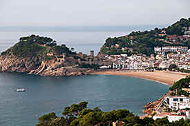 Tossa de Mar - a beautiful scene of this old medieval town on the coast of the Costa Brava in Catalonia.