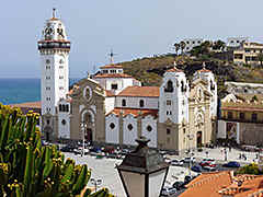 Tenerife - basilica in Candelaria on the eastern coast. Built in 1959 in modern-baroque style.