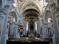 The basilica Neustift, north of Brixen is the ultimate church in baroque style.